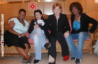 Angie Brown, a friend, Katrina (of the Waves) and Viola, Gran Canaria 2004